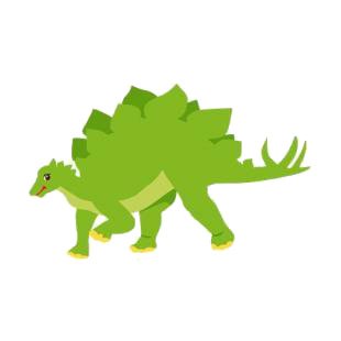 Stegosaurus listed in dinosaurs decals.