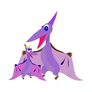 Mom pterodactyl with baby pterodactyl listed in dinosaurs decals.