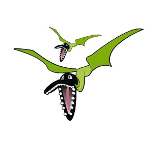 Pterodactyls flying listed in dinosaurs decals.