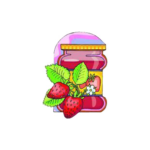 Strawberry jam listed in agriculture decals.