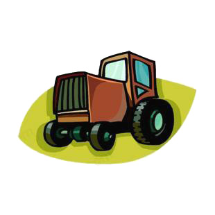 Tractor listed in agriculture decals.