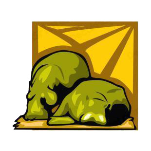 Hippopotamus sleeping listed in african decals.