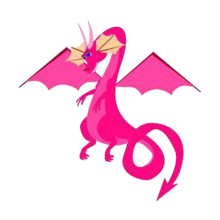 Pink dragon listed in dragons decals.
