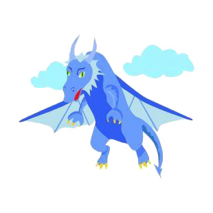 Flying blue dragon listed in dragons decals.