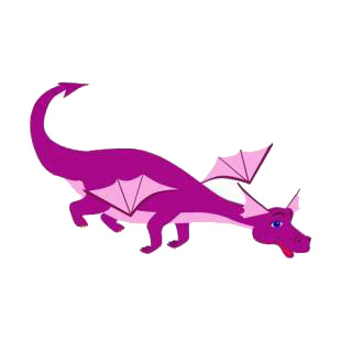 Flying purple dragon listed in dragons decals.