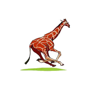 Giraffe running listed in african decals.