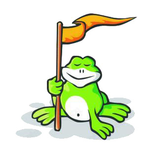 Frog with flag listed in amphibians decals.