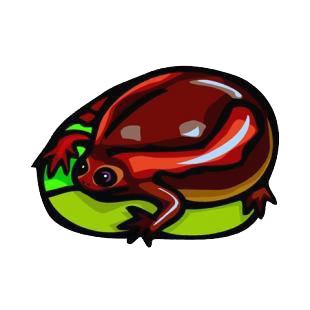 Red frog listed in amphibians decals.