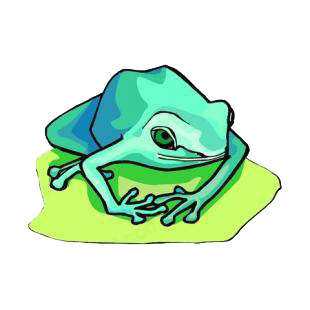 Blue frog listed in amphibians decals.