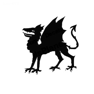 Dragon medieval myth listed in fantasy decals.