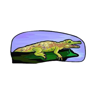 Crocodile listed in reptiles decals.