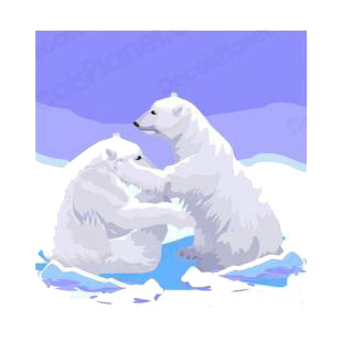 Two polar bears listed in bears decals.