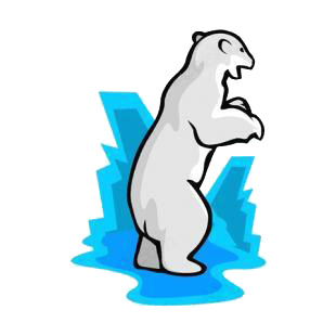 Angry polar bear listed in bears decals.