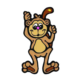 Monkey listed in monkeys decals.