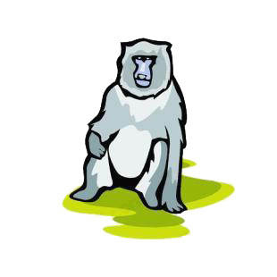 Baboon listed in monkeys decals.