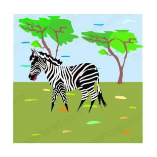 Zebra in the nature listed in horse decals.
