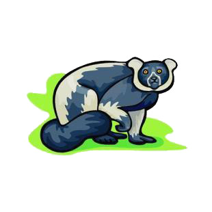 Lemur listed in monkeys decals.