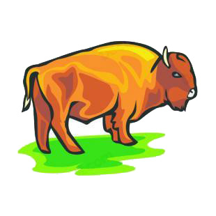 Bison listed in farm decals.