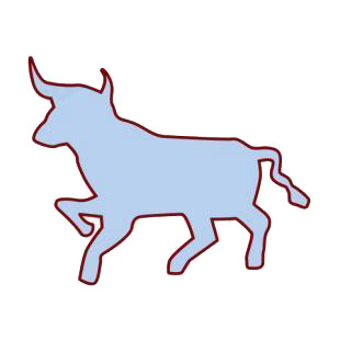 Bull silhouette listed in farm decals.