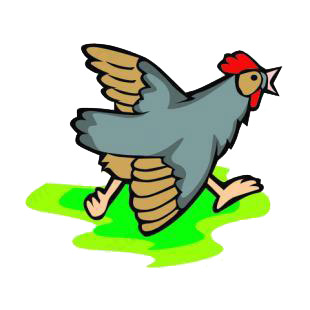 Chicken running listed in farm decals.