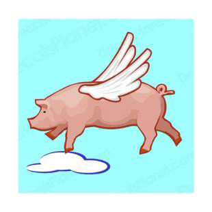 Pig flying listed in farm decals.