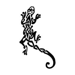 Lizard tattoo listed in reptiles decals.
