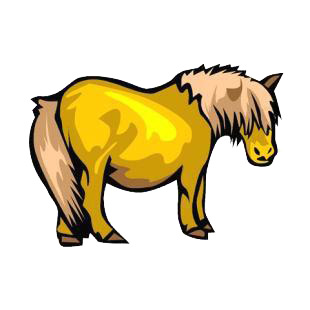 Pony listed in horse decals.