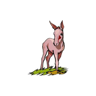 Donkey listed in horse decals.