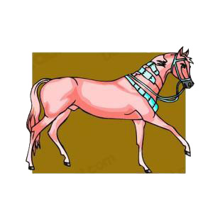 Pink horse walking listed in horse decals.