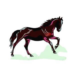 Horse listed in horse decals.