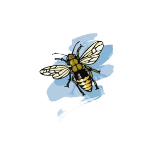 Bee listed in insects decals.