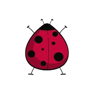 Ladybug listed in insects decals.