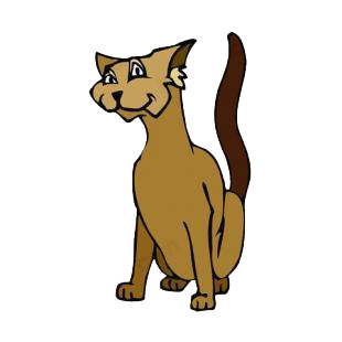 Brown cat listed in cats decals.