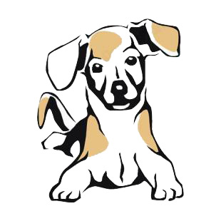 Beagle listed in dogs decals.