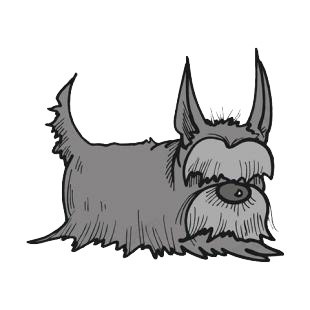 Yorkshire terrier listed in dogs decals.