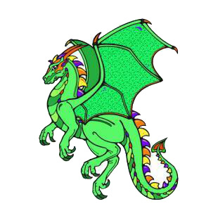 Green dragon listed in dragons decals.