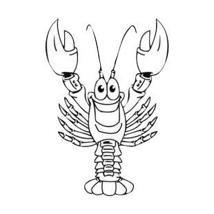 Happy lobster listed in fish decals.