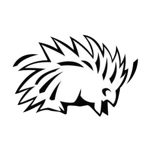 Porcupine listed in rodents decals.
