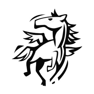Pegasus listed in horse decals.