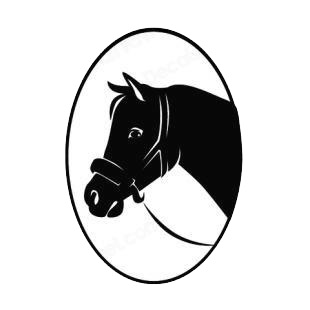 Horse head logo listed in horse decals.