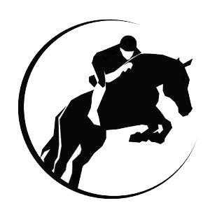 Horse racing logo listed in horse decals.
