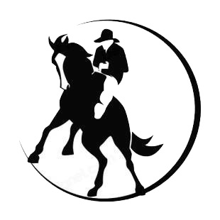 Rodeo logo listed in horse decals.
