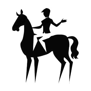Equestrian listed in horse decals.