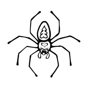 Female spider listed in insects decals.