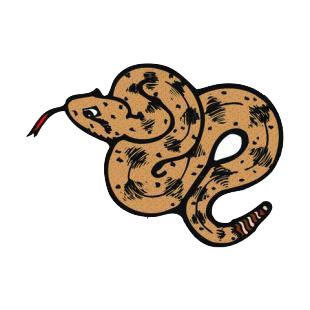 Brown snake listed in snakes decals.