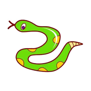 Green snake listed in snakes decals.