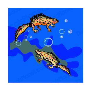Aquatic reptiles listed in fish decals.