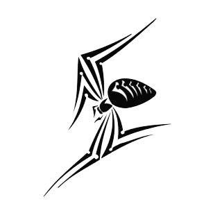Black Widow Spiders Decals Decal Sticker 6574