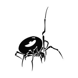 Black Widow Spiders Decals Decal Sticker 6593