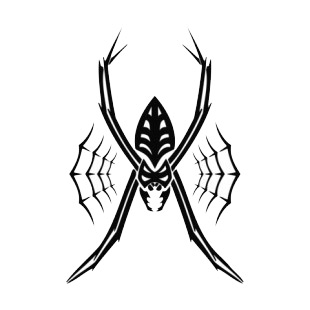Black widow tattoo listed in spiders decals.